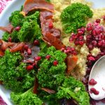 Kipi kasza! Quinoa,jarmuż,granat i prosciutto. Sezonowo od A do M