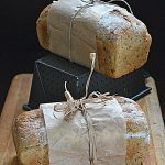 Sourdough bread with oatmeal and nettle. World Bread Day 2015!