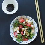 Arbuz, tofu i rukiew wodna. Sałatka i Murakami