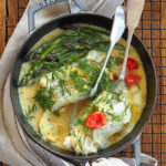 Dorsz ze szparagami w sosie cytrynowo – koperkowym. Obiad w pół godziny!