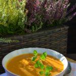 Pieczona dynia i pomidory.Zupa.Sezonowo od A do M