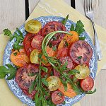 Pomidorowa sałatka doskonała. Co lubię jesienią…
