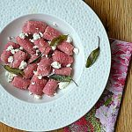 Burak z piekarnika, kozia ricotta i parmezan. Gnocchi w Pasta e Vino!