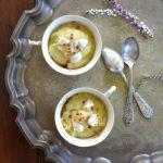 Gruszkowy krem z gorgonzolą i czerwonym pieprzem. Sezonowo od A do M