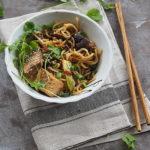 Ramen stir fry z tofu, shitake, pak choy…Przepis na weekend!
