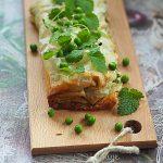 Strudel z kozim serem, zielonym groszkiem i ziołami. Wielkanocnie!