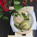 Kalarepa na parze z brązowym ryżem, ziołami i cielęciną. Majowa obfitość