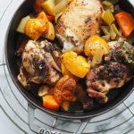 Kurczak pieczony z pigwą. Jesienny obiad