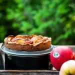 Tarta z jabłkami i miodem. Jesienny podwieczorek