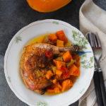 Kurczak z dynią, porem i chili. Jesienny slow cooking