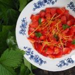 Sałatka z truskawek i arbuza. Orzeźwiająco…