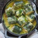 Cukinia faszerowana jagnięciną i ryżem w sosie cytrynowym. Greckie lato