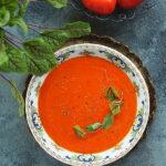 Zupa ze świeżych pomidorów. Velouté