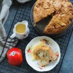 Irlandzkie ciasto z jabłkami i z kremem custard. Ciasto na weekend
